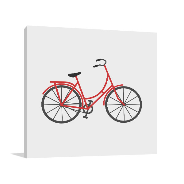 Bicycle Icon Canvas Art