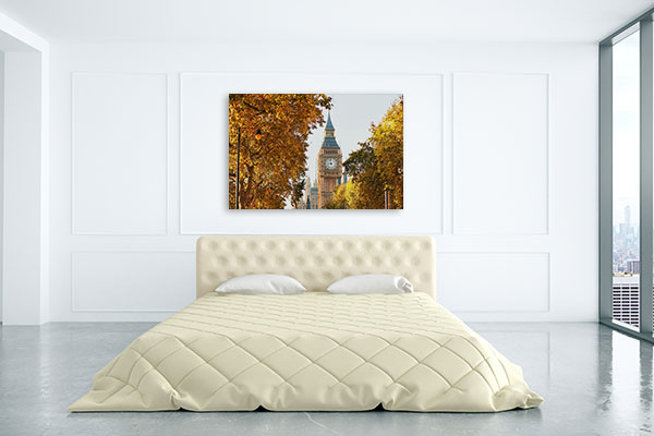 Big Ben in Autumn Trees Canvas Art