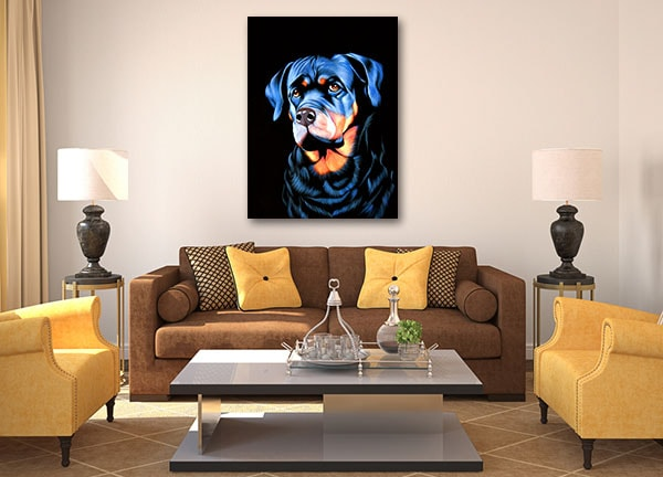Big Dog Portrait Art Print Prints Canvas