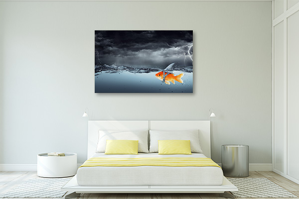 Big Shark Canvas Prints