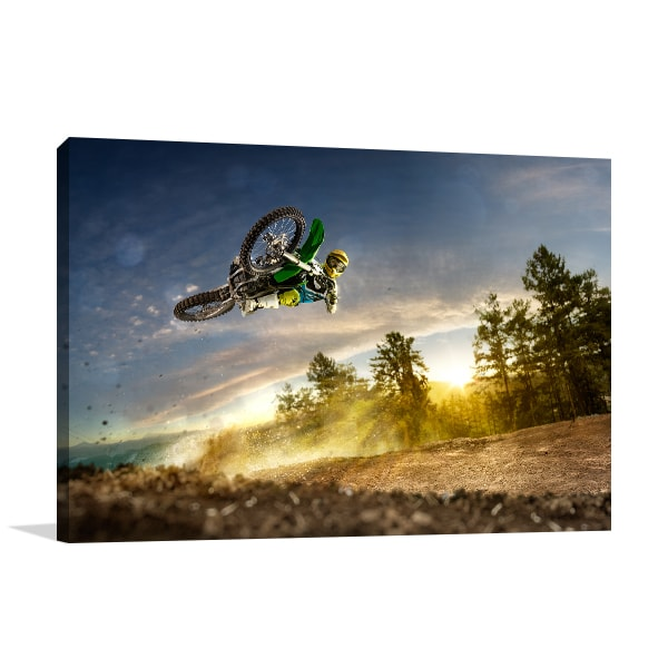 Bike Rider Canvas Art Print