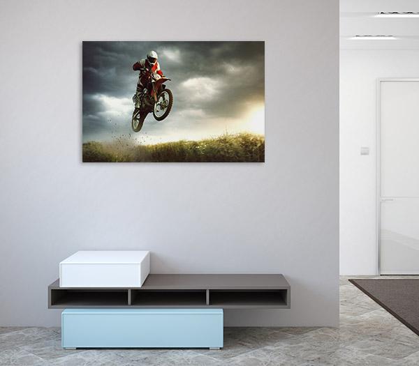 Biker Stunt Canvas Prints