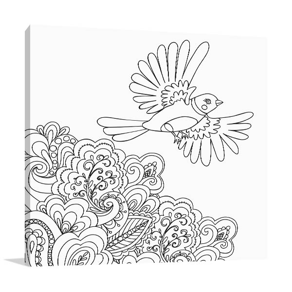 Bird Flown Prints Canvas