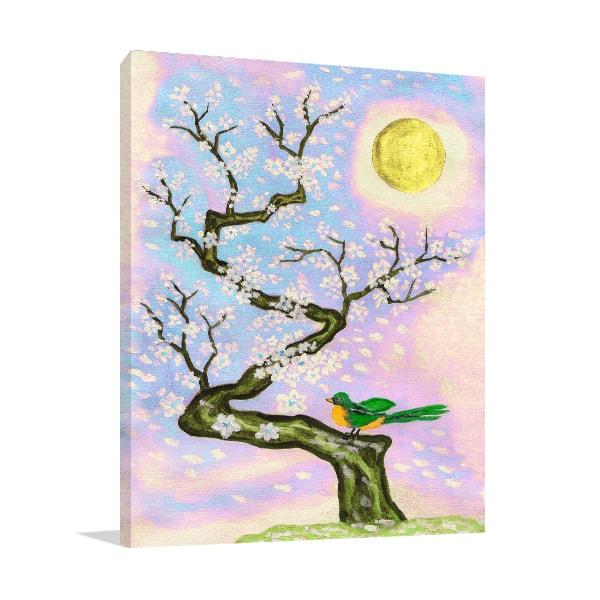 Bird On Branch Print Artwork