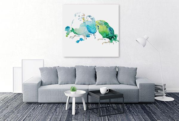 Birds In Watercolour Canvas Art Prints