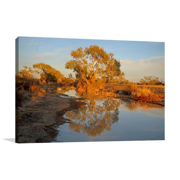 Birdsville Diamantina River Canvas Art Prints