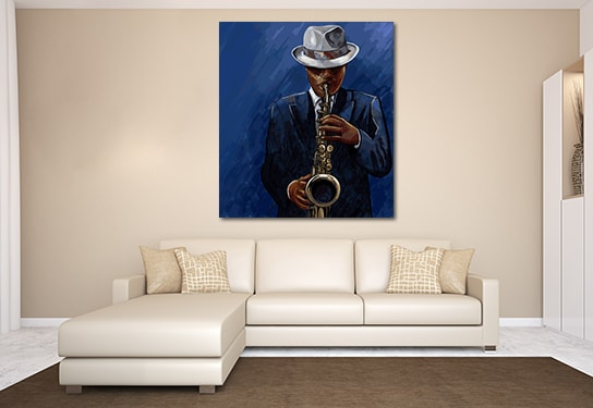 Black and Blues Wall Art