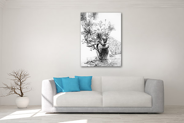 Black And White Still Life Flower Art Prints