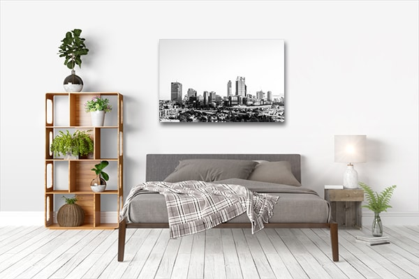 Black And White Sunrise Perth Canvas Prints