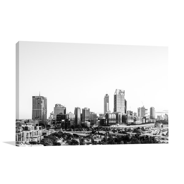 Black And White Sunrise Perth Art Prints