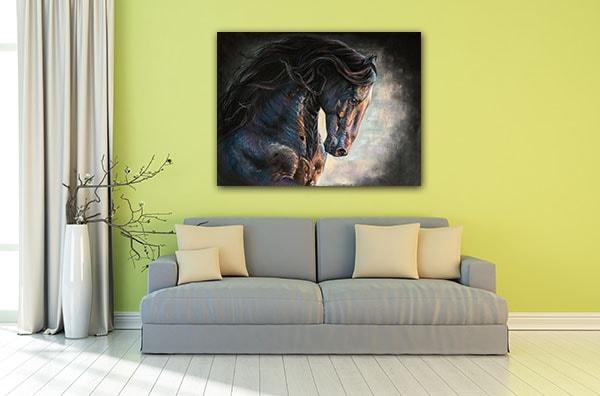 Black Frishian Horse Art Print Art Prints