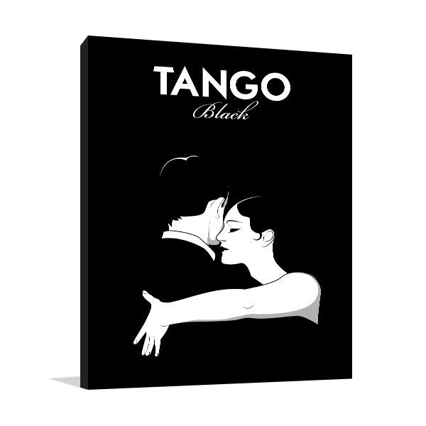 Black Tango Canvas Prints