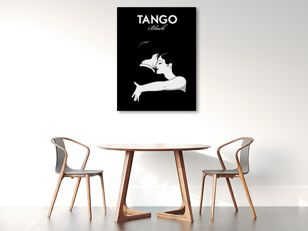 Black Tango Wall Art