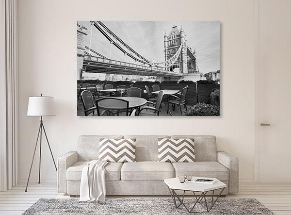 Black & White Cafe Canvas Prints