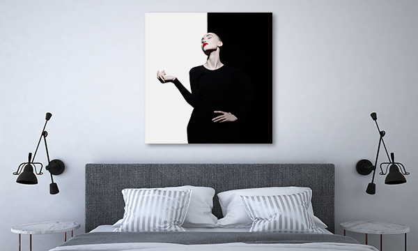 Black White Woman Canvas Art
