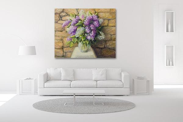 Bloom Lilacs Canvas Artwork