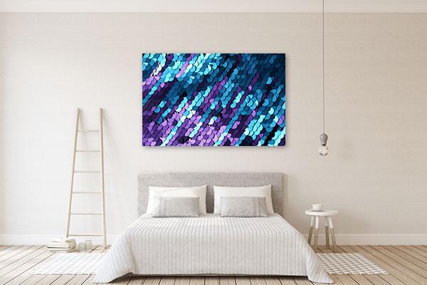Blue and Lilac Sequins Art Print Canvas Art Prints