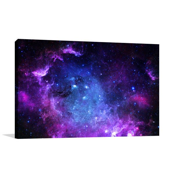 Blue and Purple Galaxy Wall Art