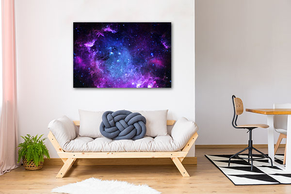 Blue and Purple Galaxy Canvas Art Prints