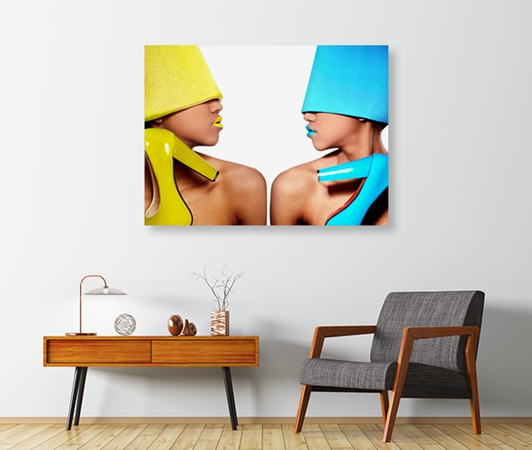 Blue and Yellow Glam Prints Canvas