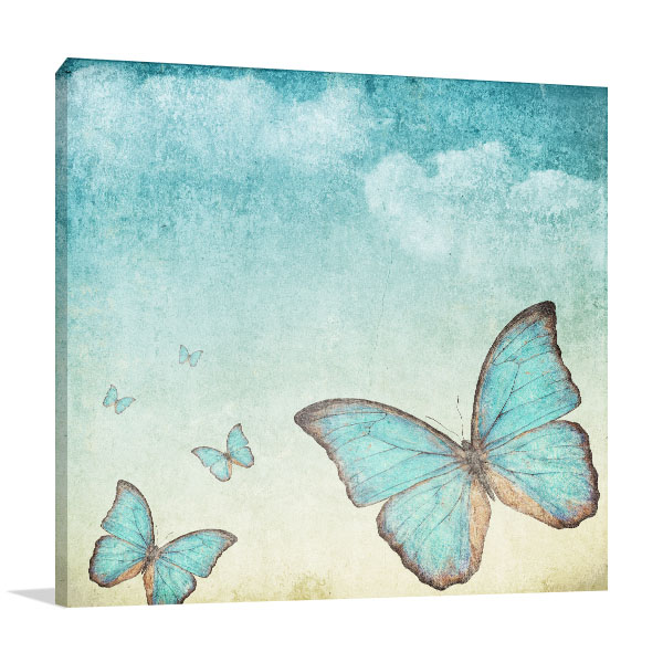Blue Butterflies Art Prints