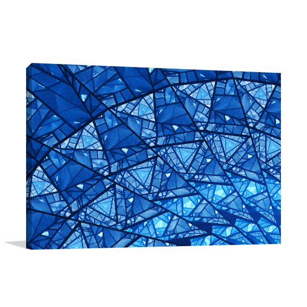 Blue Glass Mosaic Art Print Canvas Prints