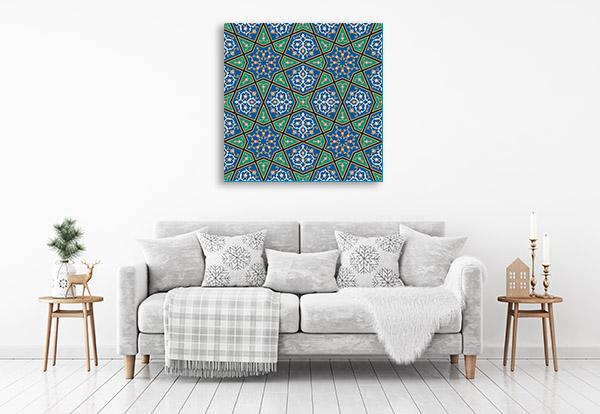 Blue Green Mosaic Art Prints