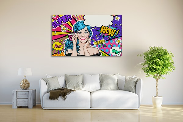 Blue-haired Girl Canvas Artwork