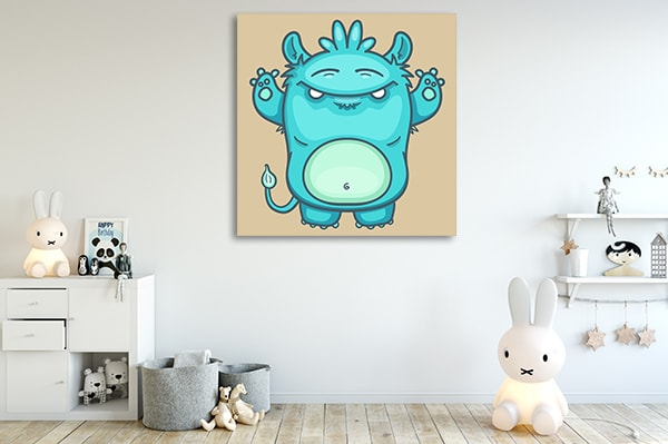 Blue Monster Art Prints