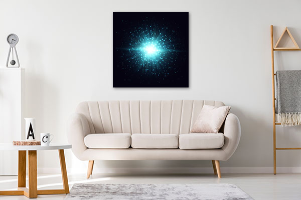 Blue Sparks Prints Canvas