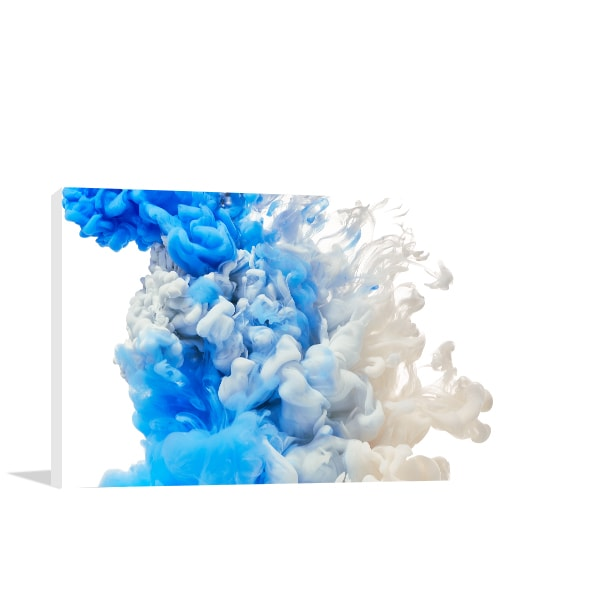 Blue Splash Wall Art Print Artwork