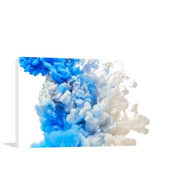 Blue Splash Wall Art Print Artwork