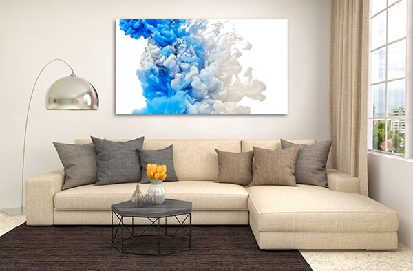 Blue Splash Wall Art Print Prints Canvas