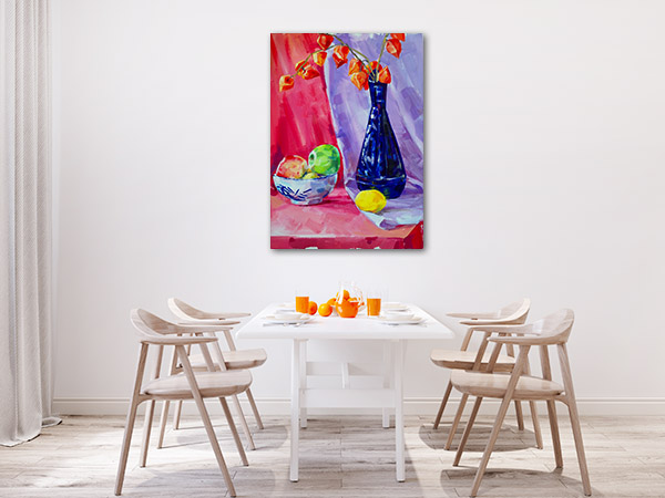 Blue Vase In Oil Painting Canvas Art