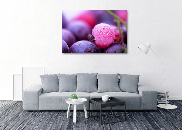 Blueberry Froze Canvas Prints