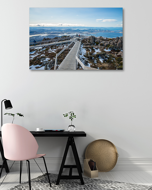 Boardwalk Summit Hobart Canvas Art