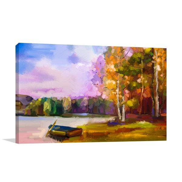Boat at the Lake Wall Art