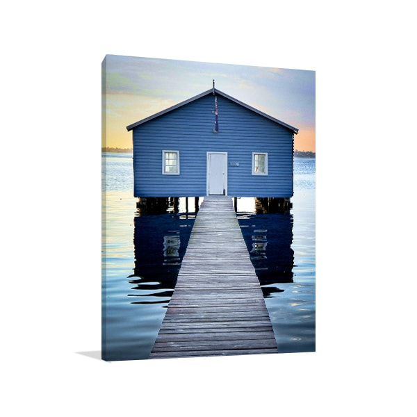 Boat Shed House Up-close Perth Prints Canvas