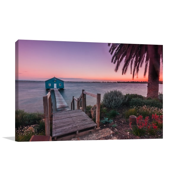 Boat Shed Perth Canvas Art Prints
