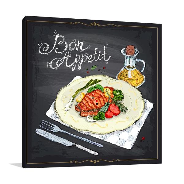 Bon Appetit Canvas Prints