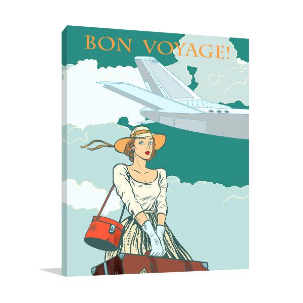 Bon Voyage Girl Art Prints