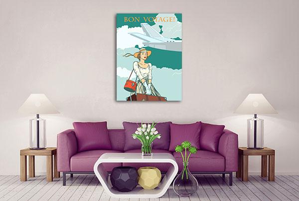 Bon Voyage Girl Artwork