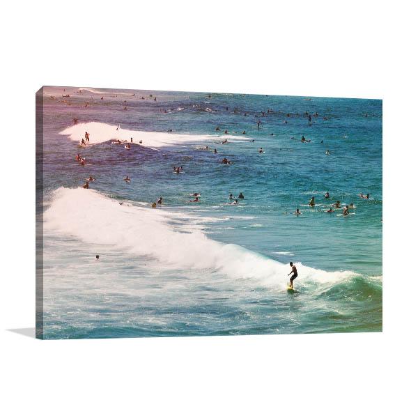 Bondi Beach Art Print Sydney Surfers Wall Art