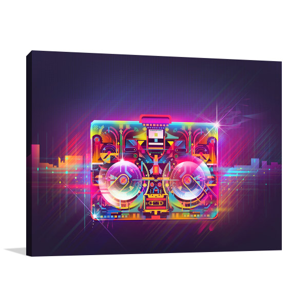 Boombox Urban Light Prints Canvas