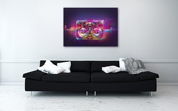 Boombox Urban Light Canvas Prints