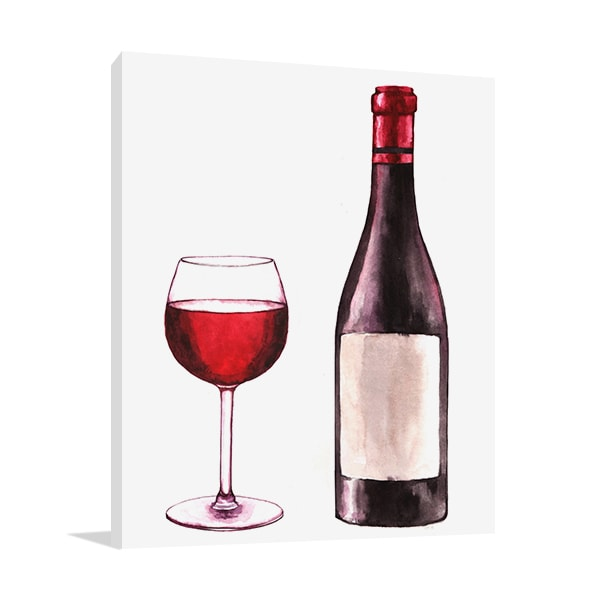 Bottled Red Wine Print Artwork