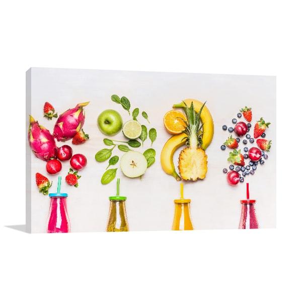 Bottles of Fruits Print Artwork