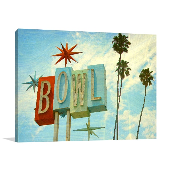 Bowling Alley Prints Canvas