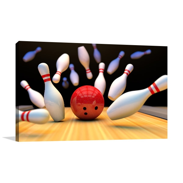 Bowling Strike Prints Canvas