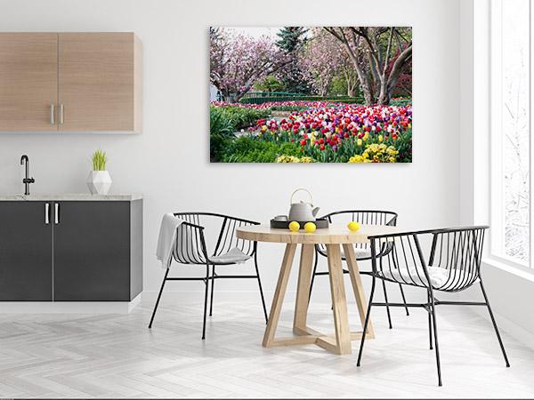Bowral Art Print Of Tulips Garden Print Art Canvas